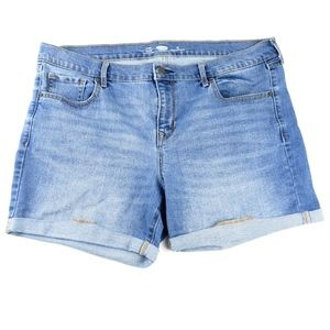 Old Navy Women's Fitted Stretch Shorts Blue Wash